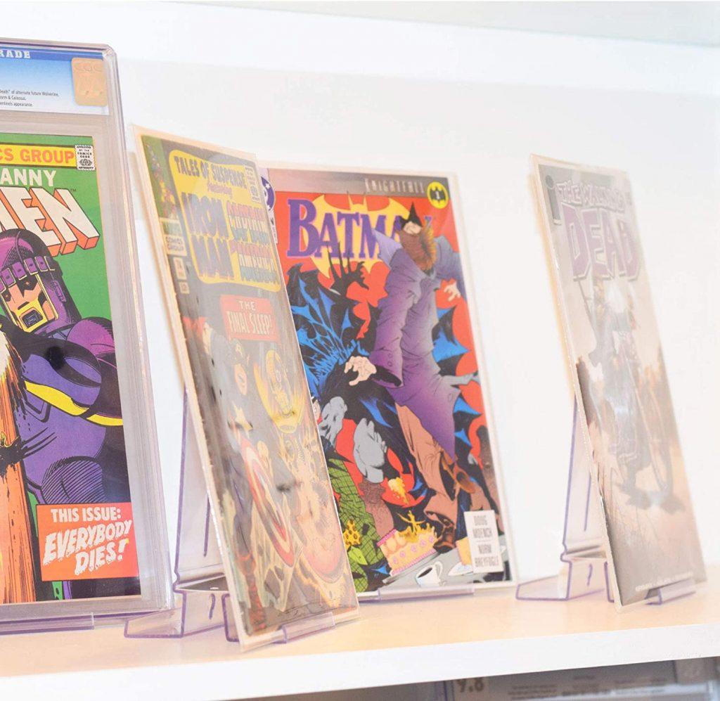 expositor almacenaje comics estantería para proteger y almacenar cómics