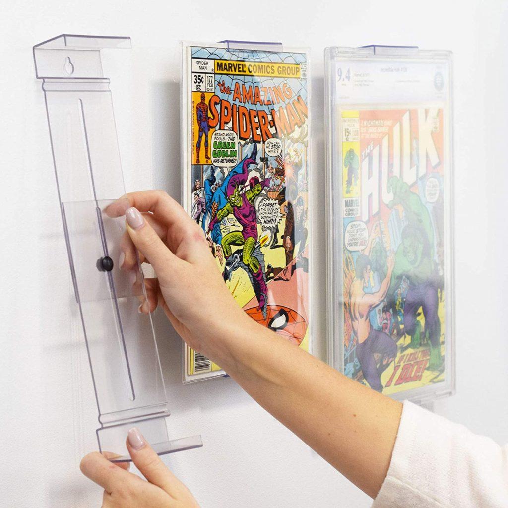 expositor display para comics pared proteger y almacenar cómics