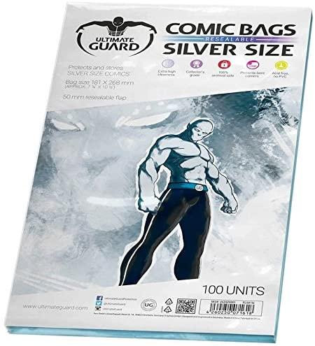 Funda comics silver ultimate guard para proteger y almacenar cómics
