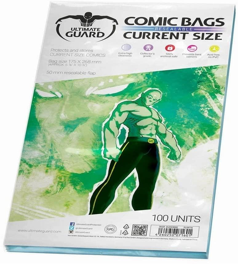 Funda comics standard current size ultimate guard para proteger y almacenar cómics